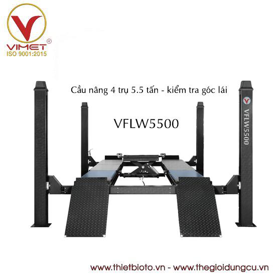 Cầu nâng 4 trụ 5.5 tấn kiểm tra góc lái VFLW5500