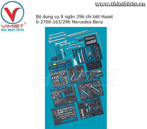 Bộ dụng cụ 8 ngăn 296 chi tiết Hazet 0-2700-163/296 Mercedes-Benz