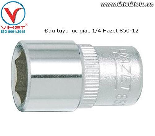 Đầu tuýp lục giác 1/4 Hazet 850-12