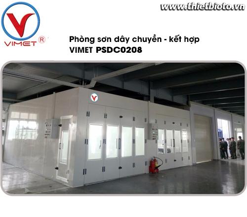 Phòng sơn sấy dây chuyền kết hợp cao cấp PSDC0208