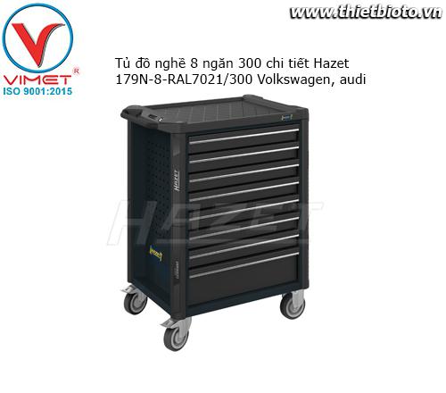 Tủ đồ nghề 8 ngăn 300 chi tiết Hazet 179N-8-RAL7021/300 Volkswagen, audi